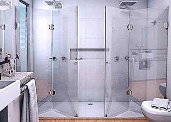 Box de vidro de banheiro
